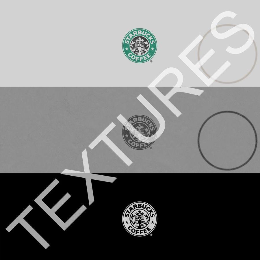 Coppa Starbucks royalty-free 3d model - Preview no. 17