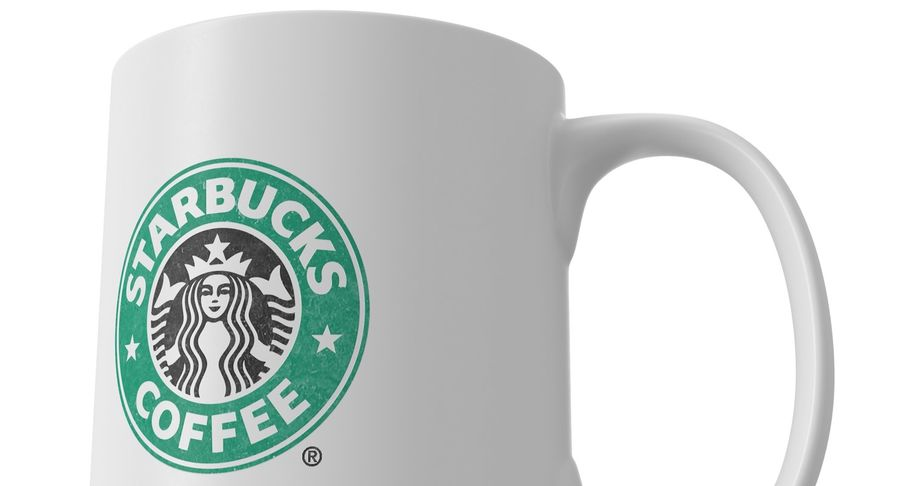 Coppa Starbucks royalty-free 3d model - Preview no. 9
