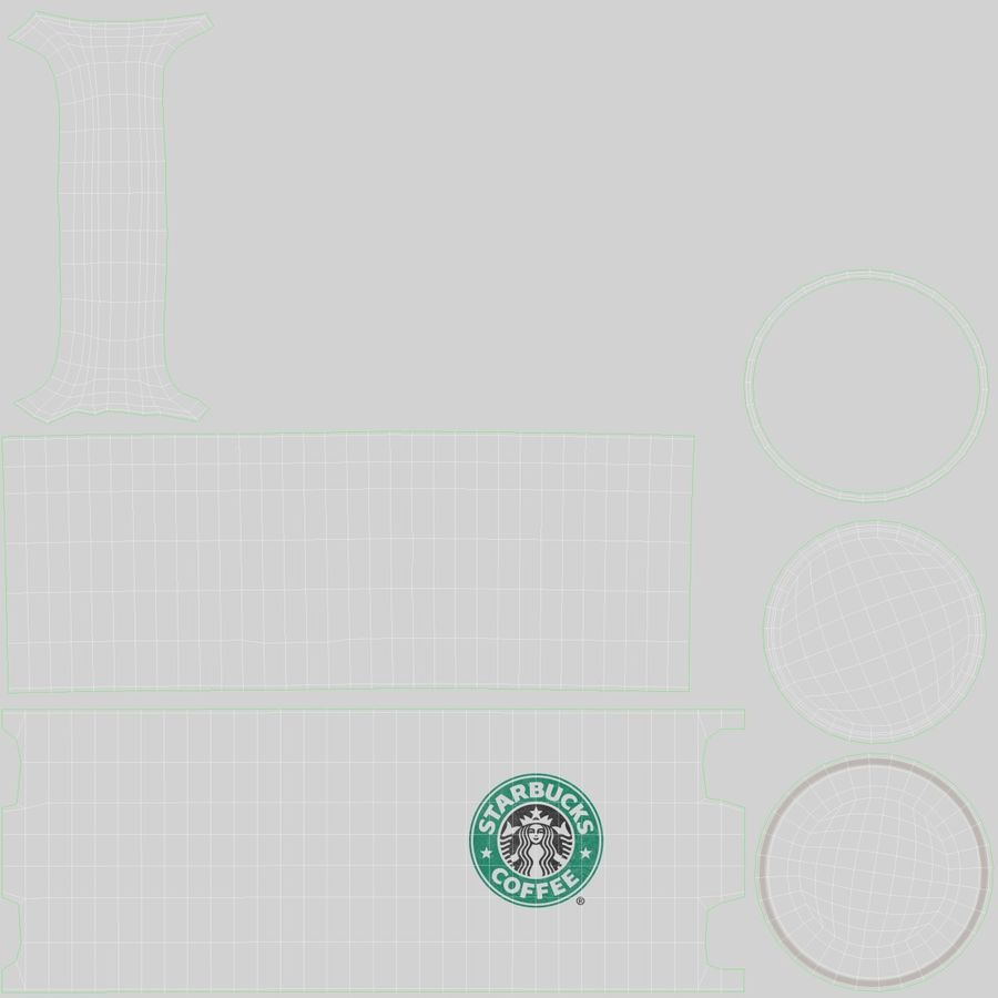 Coppa Starbucks royalty-free 3d model - Preview no. 18