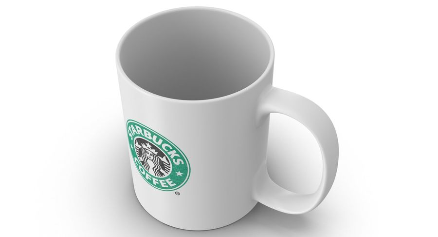 Coppa Starbucks royalty-free 3d model - Preview no. 5