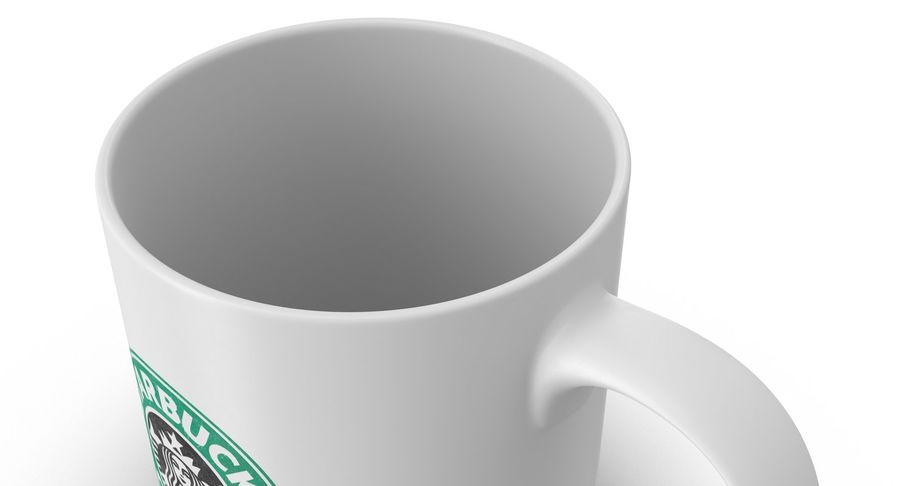 Coppa Starbucks royalty-free 3d model - Preview no. 11