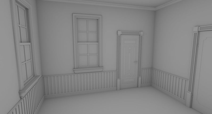 Brick apartment five with interior royalty-free 3d model - Preview no. 16