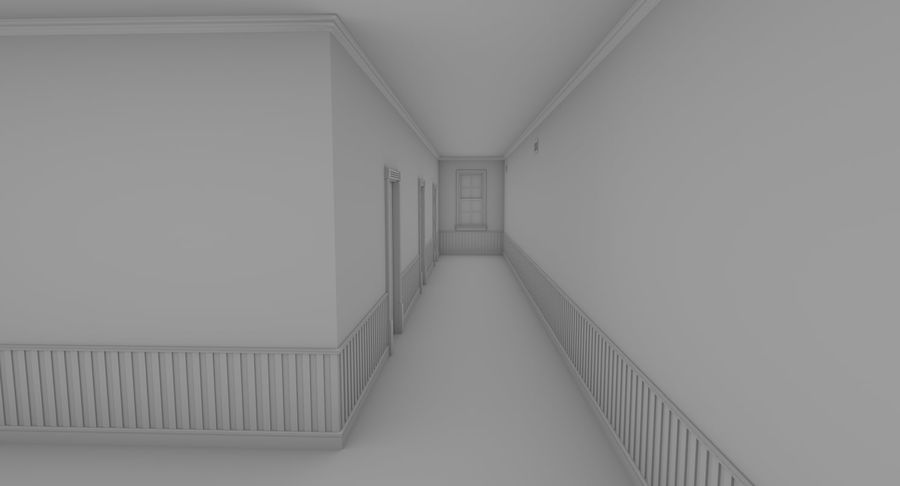 Brick apartment five with interior royalty-free 3d model - Preview no. 14