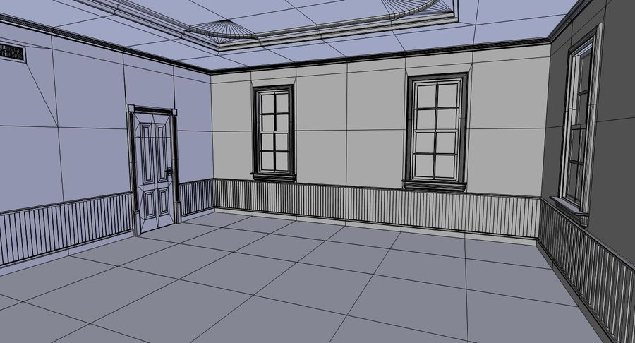 Brick apartment five with interior royalty-free 3d model - Preview no. 27
