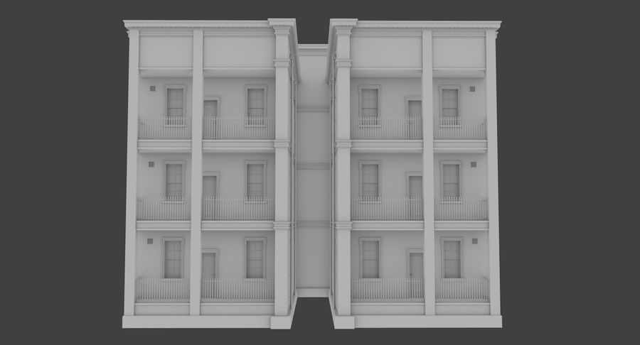 Brick apartment five with interior royalty-free 3d model - Preview no. 5