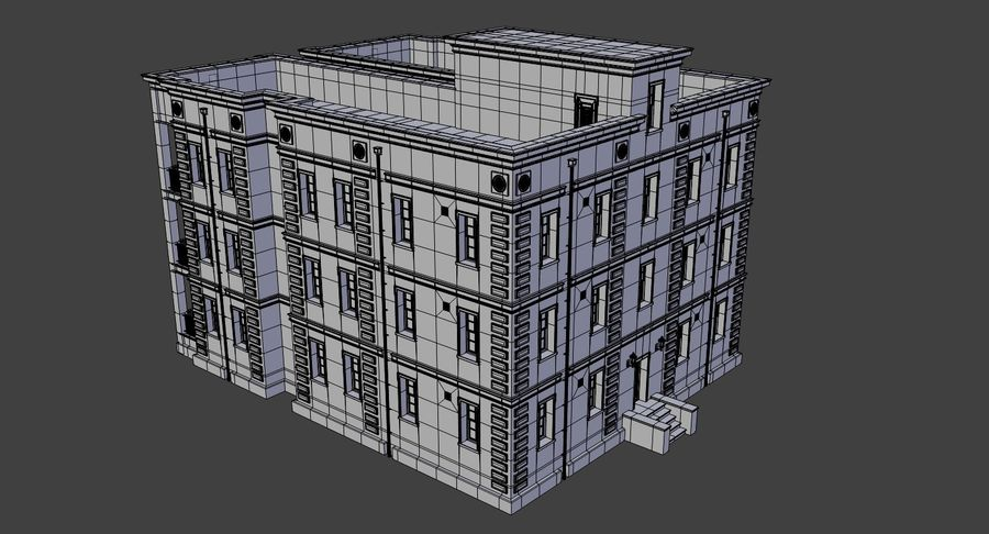 Brick apartment five with interior royalty-free 3d model - Preview no. 20