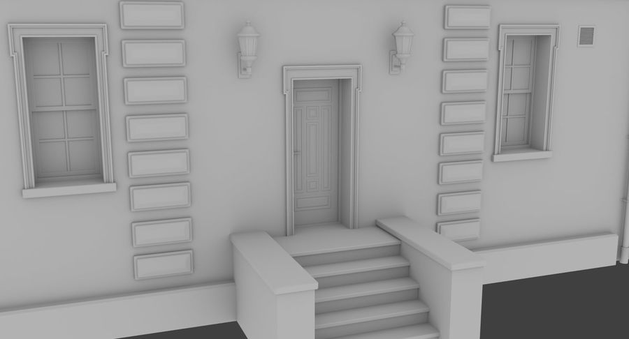 Brick apartment five with interior royalty-free 3d model - Preview no. 7