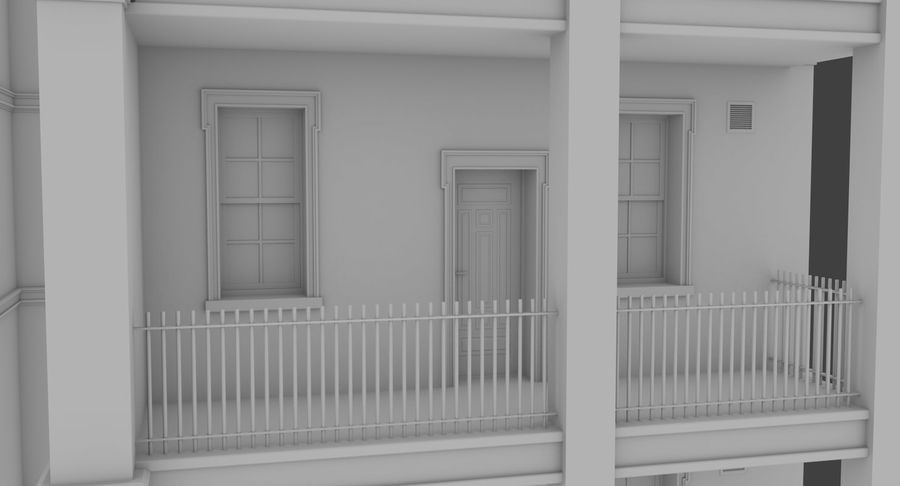 Brick apartment five with interior royalty-free 3d model - Preview no. 8