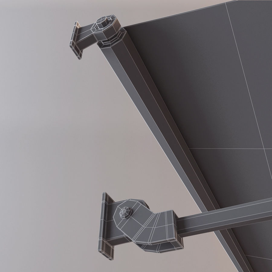 Awning royalty-free 3d model - Preview no. 7