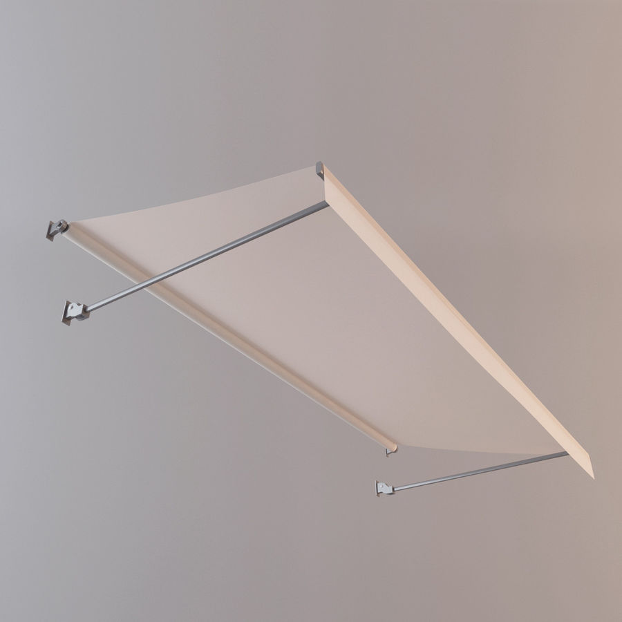 Awning royalty-free 3d model - Preview no. 2