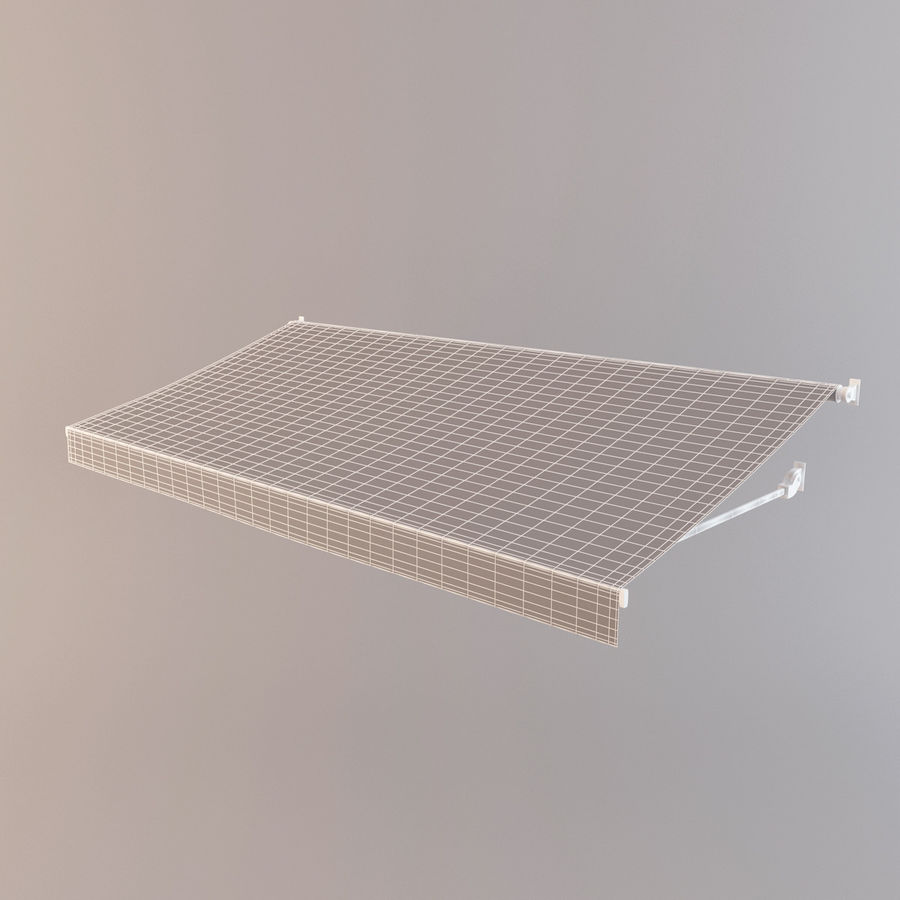 Awning royalty-free 3d model - Preview no. 10