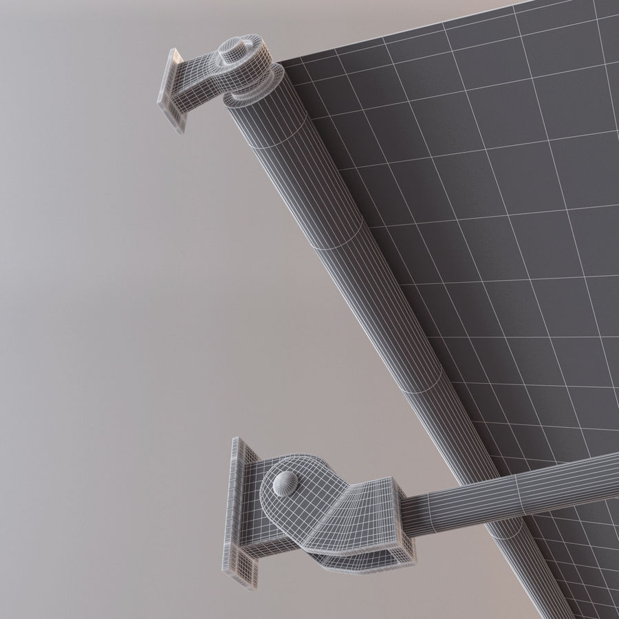 Awning royalty-free 3d model - Preview no. 8