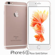 Apple iPhone 6s en or rose 3d model