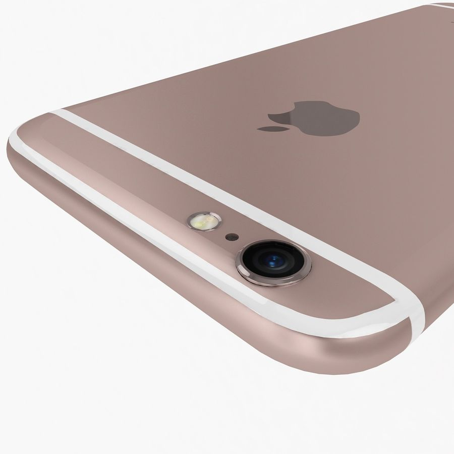 Apple iPhone 6s Rose Gold royalty-free 3d model - Preview no. 10