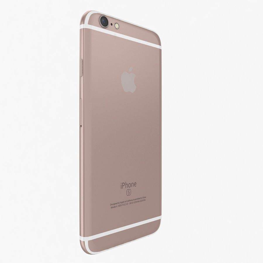 Apple iPhone 6s Rose Gold royalty-free 3d model - Preview no. 4