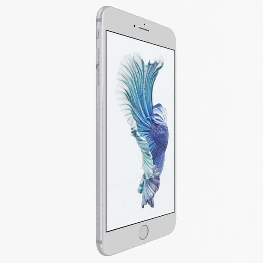 Apple iPhone 6s Plus  Silver royalty-free 3d model - Preview no. 2