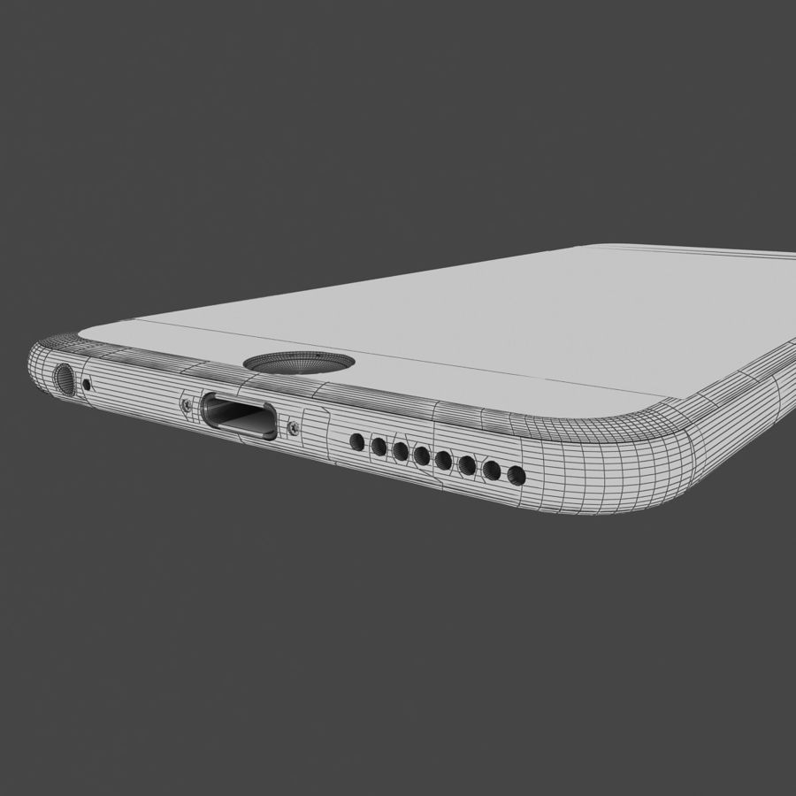 Apple iPhone 6s Plus  Silver royalty-free 3d model - Preview no. 12