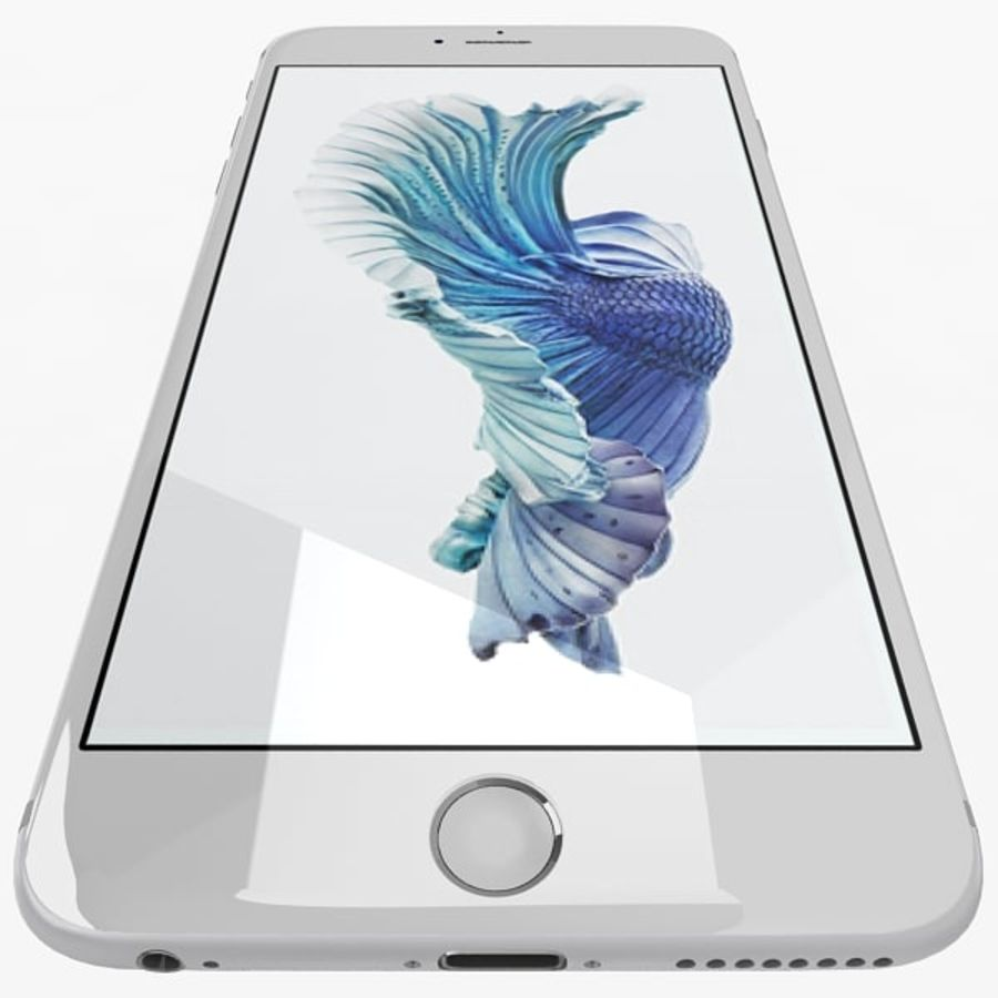 Apple iPhone 6s Plus  Silver royalty-free 3d model - Preview no. 7