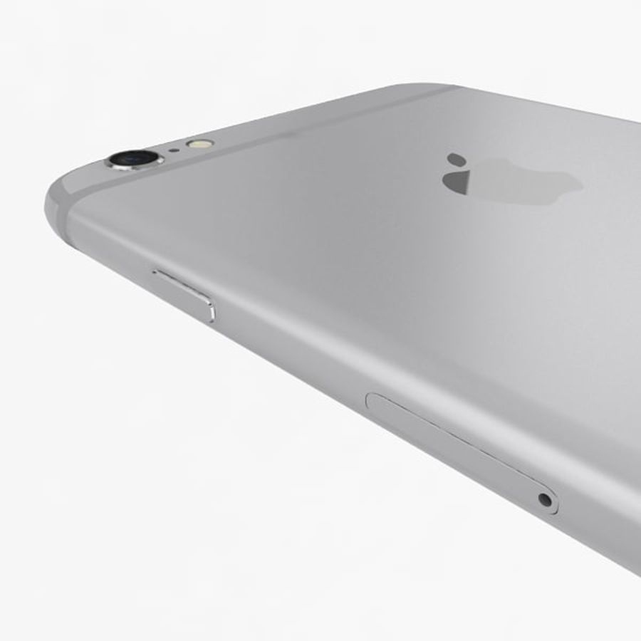 Apple iPhone 6s Plus  Silver royalty-free 3d model - Preview no. 10