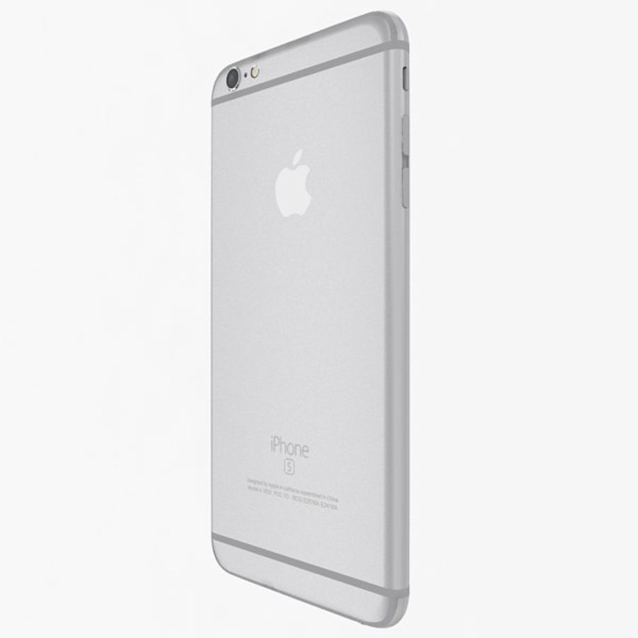 Apple iPhone 6s Plus  Silver royalty-free 3d model - Preview no. 5