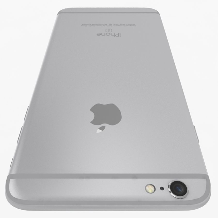 Apple iPhone 6s Plus  Silver royalty-free 3d model - Preview no. 6