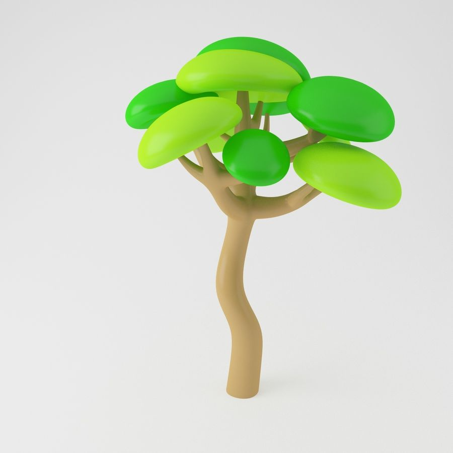 Toon Tree royalty-free 3d model - Preview no. 5