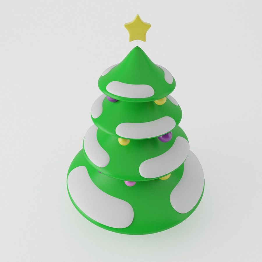 Christmas Tree royalty-free 3d model - Preview no. 5