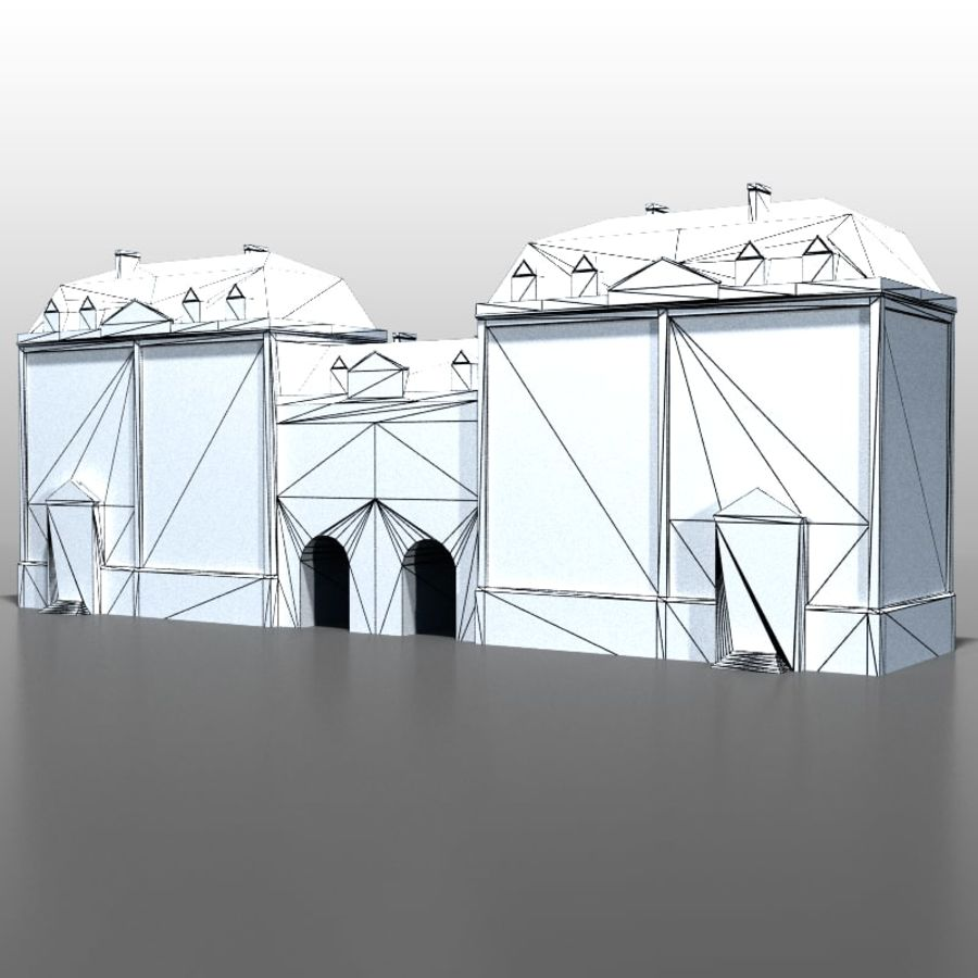 French house v5 royalty-free 3d model - Preview no. 8