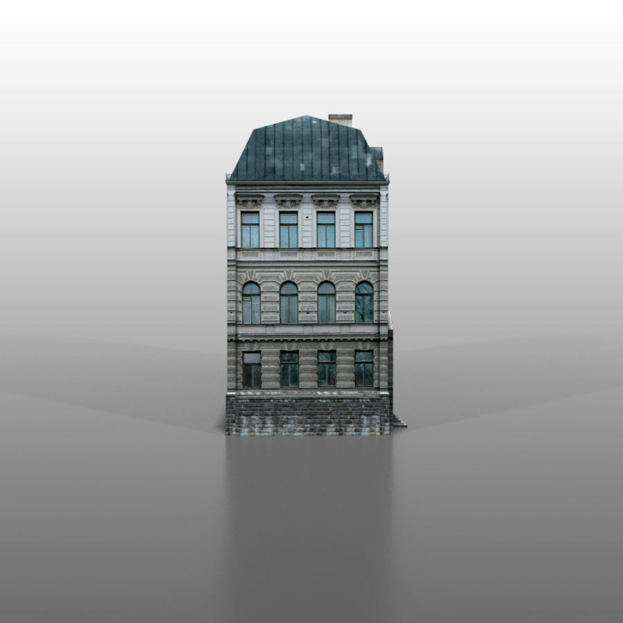 French house v5 royalty-free 3d model - Preview no. 3