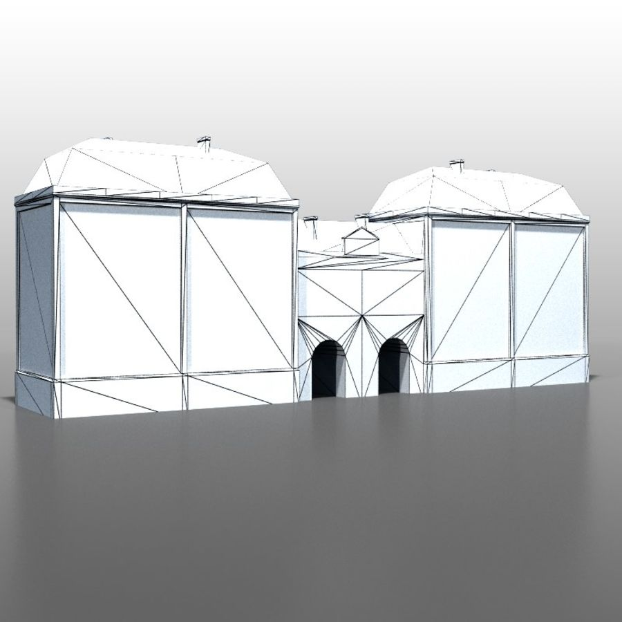 French house v5 royalty-free 3d model - Preview no. 6