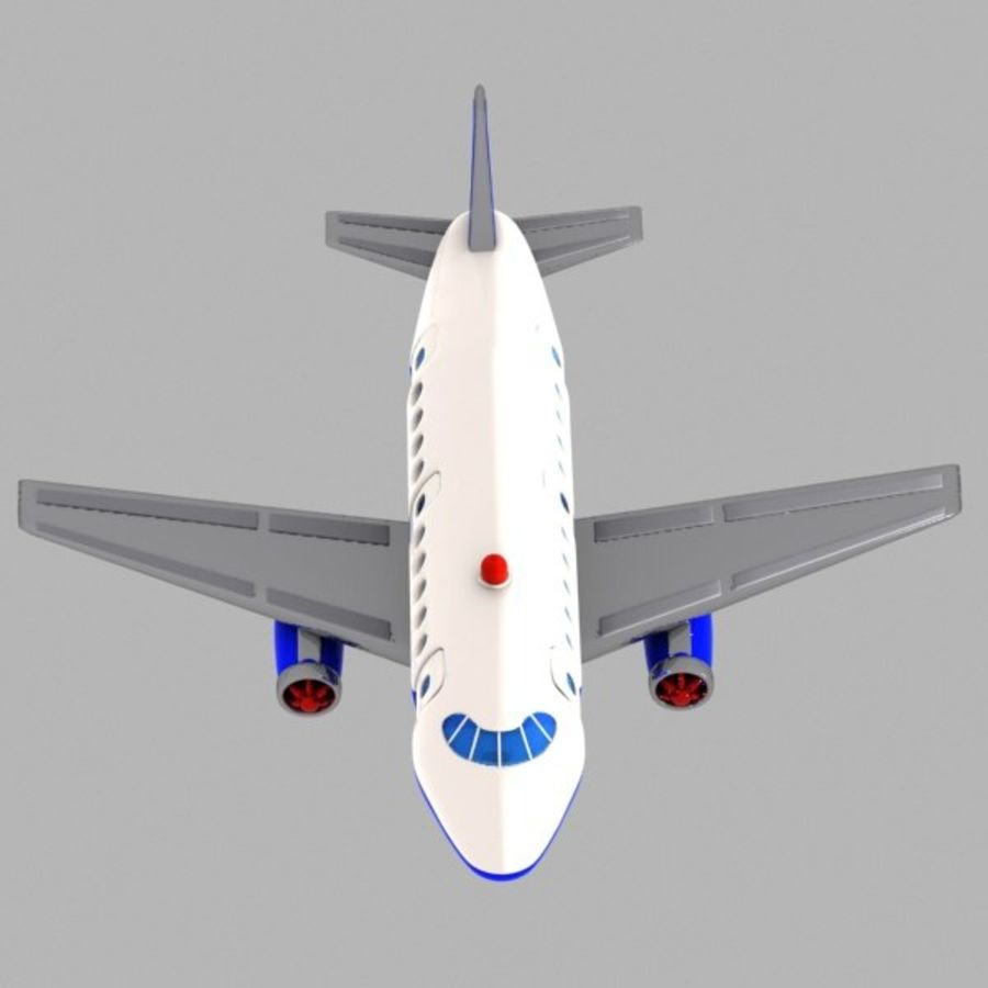 Toon Commercial Aircraft royalty-free 3d model - Preview no. 7