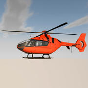 Helicopter With Rotating Blades 3d model