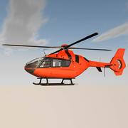 Вертолет с вращающимися лопастями 3d model