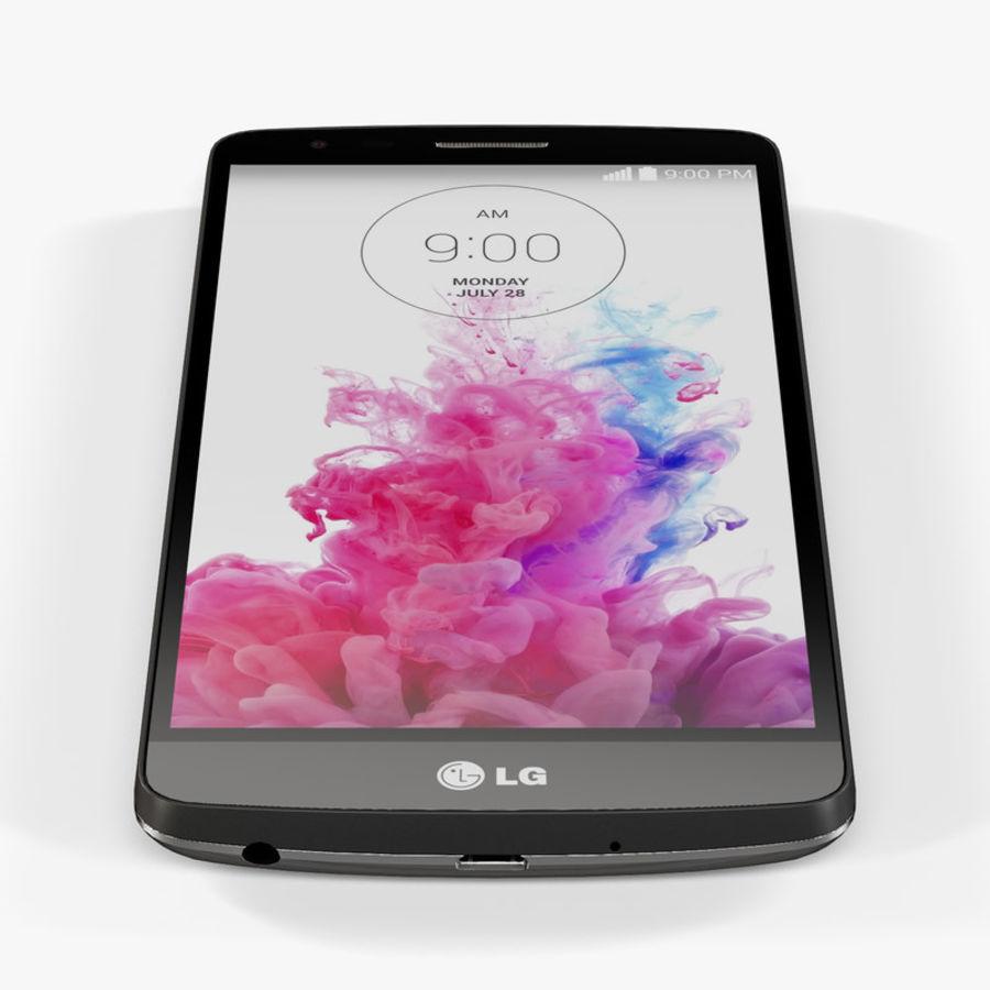 LG G3スタイラスD690タイタンブラック royalty-free 3d model - Preview no. 6