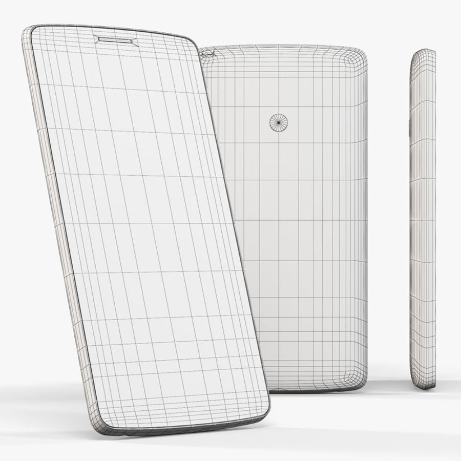 LG G3スタイラスD690タイタンブラック royalty-free 3d model - Preview no. 9