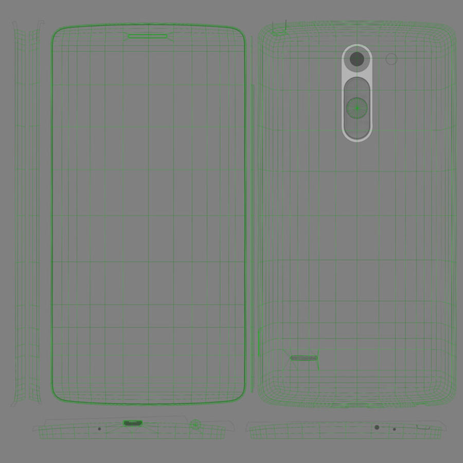 LG G3スタイラスD690タイタンブラック royalty-free 3d model - Preview no. 12