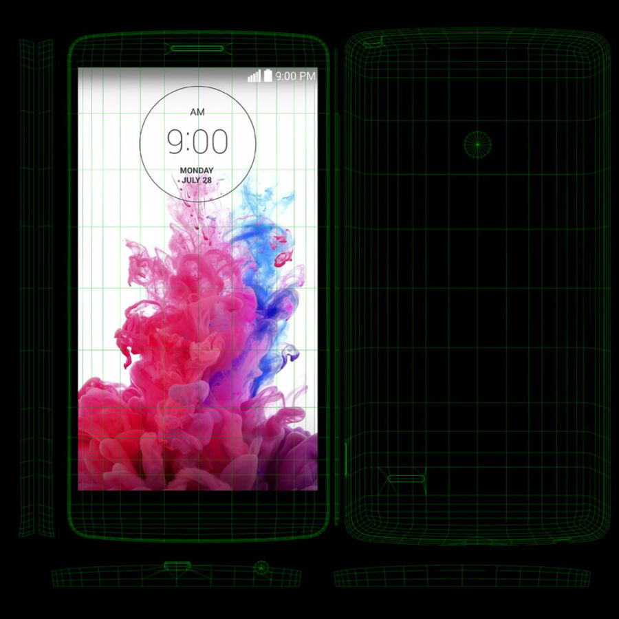 LG G3スタイラスD690タイタンブラック royalty-free 3d model - Preview no. 14