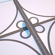道路交叉口2辛烷值 3d model