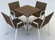 Outdoor Dining Set 3d model