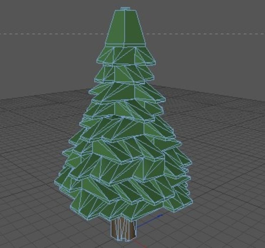 LEGO Christmas Conifer Tree (Low Poly) royalty-free 3d model - Preview no. 5