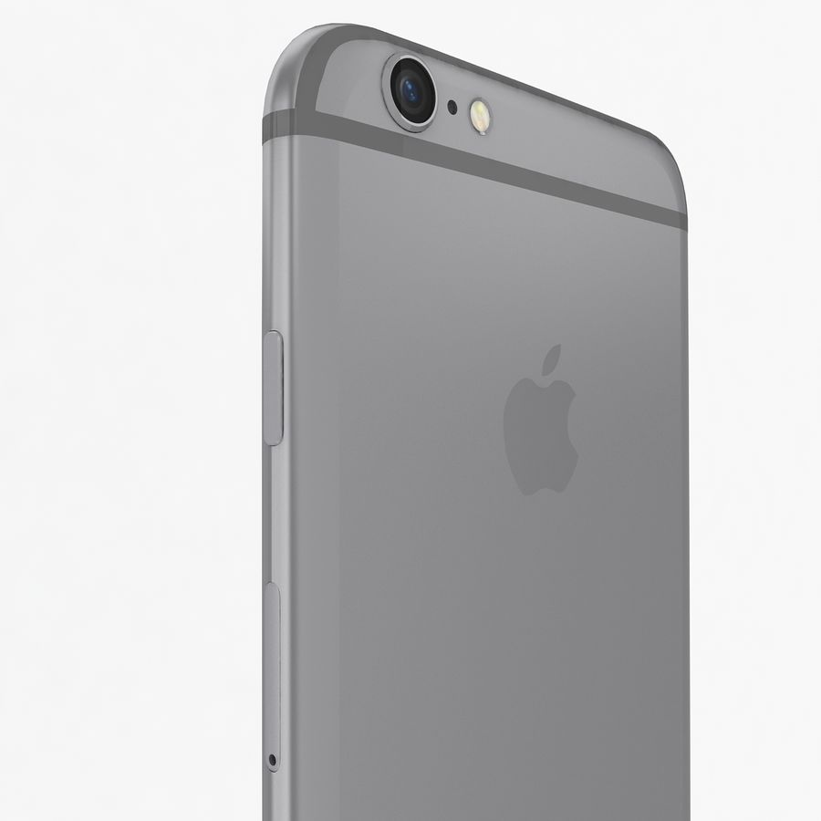 Apple iPhone 6s Space Gray royalty-free 3d model - Preview no. 10