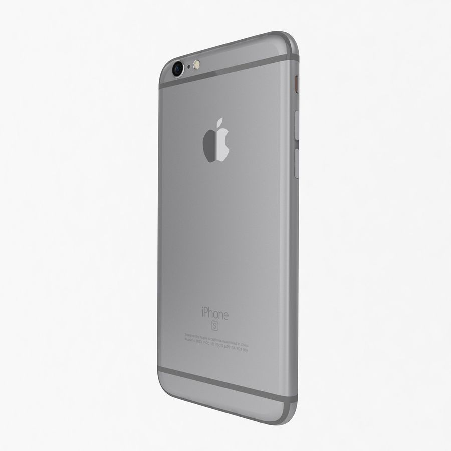 Apple iPhone 6s Space Gray royalty-free 3d model - Preview no. 5