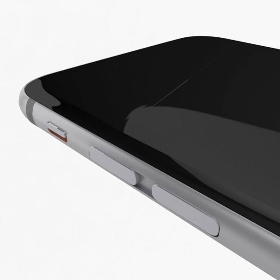Apple iPhone 6s Space Gray royalty-free 3d model - Preview no. 9