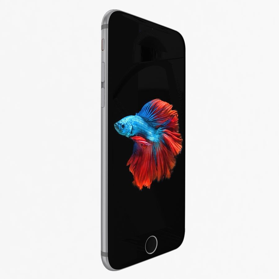 Apple iPhone 6s Space Gray royalty-free 3d model - Preview no. 2