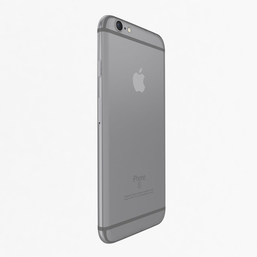 Apple iPhone 6s Space Gray royalty-free 3d model - Preview no. 4