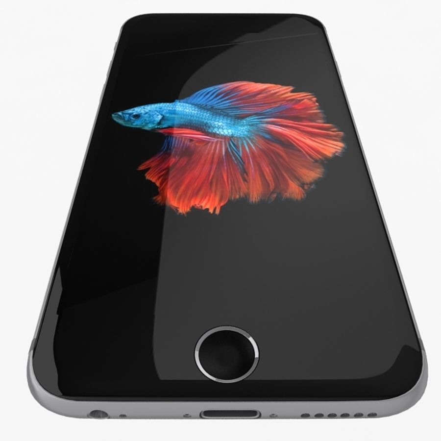 Apple iPhone 6s Space Gray royalty-free 3d model - Preview no. 7