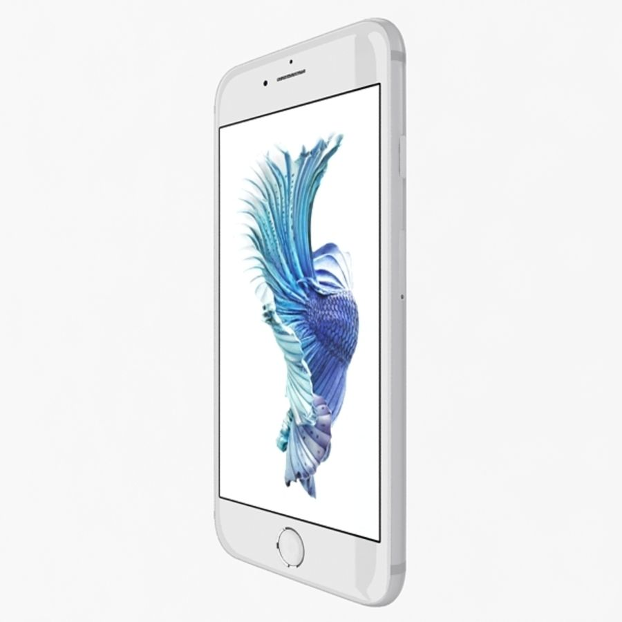 Apple iPhone 6s Silver royalty-free 3d model - Preview no. 3