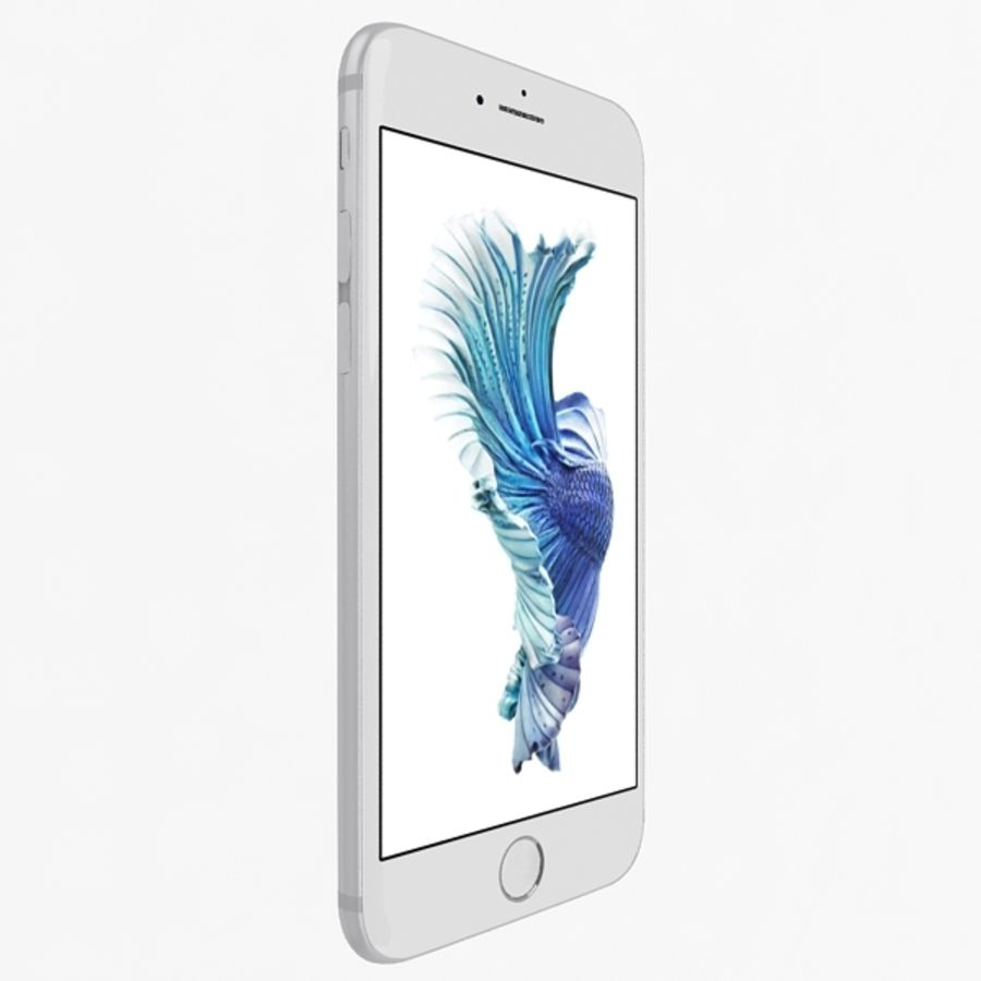 Apple iPhone 6s Silver royalty-free 3d model - Preview no. 2