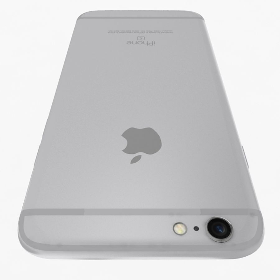 Apple iPhone 6s Silver royalty-free 3d model - Preview no. 6