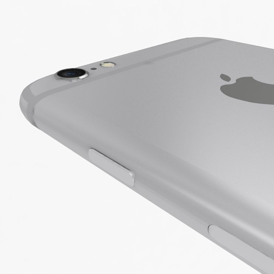 Apple iPhone 6s Silver royalty-free 3d model - Preview no. 10